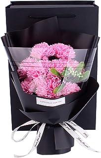 SUKIZUKI ソープフラワーバラ 可愛い カーネーション 枯れない花 石鹸花 ギフトボックス インテリア造花 いい香り 入浴剤 フラワーギフト プリザーブドフラワー カーネーション-ピンク