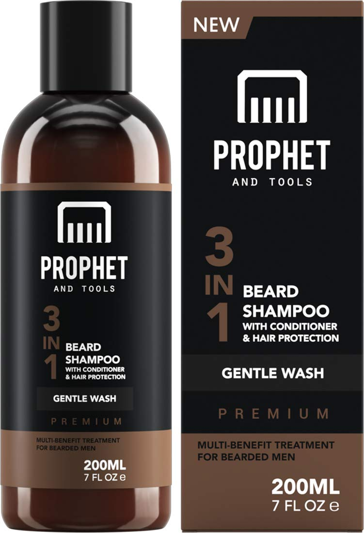 PREMIUM 3-in-1 Beard Shampoo with Sale Special Price Prot National uniform free shipping Conditioner Hair Facial