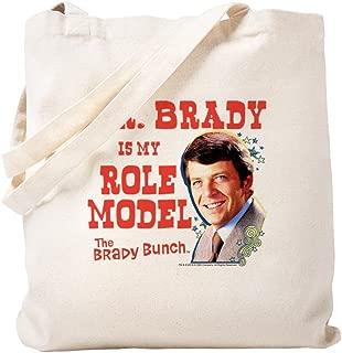 CafePress The Brady Bunch: Mr. Brady Natural Canvas Tote Bag, Reusable Shopping Bag