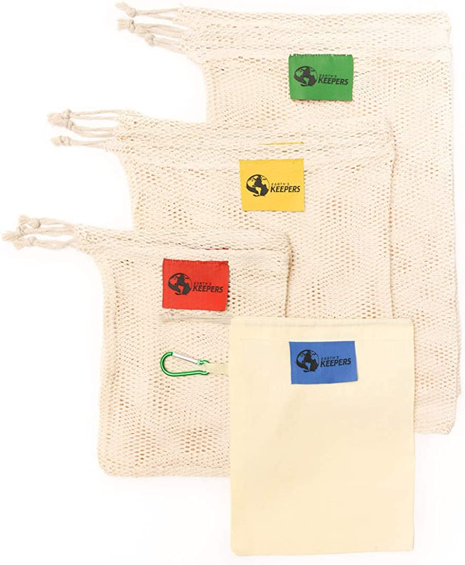 Earth's Keepers On-The-Go Reusable Produce Surprise price M in Bags Cotton Manufacturer regenerated product