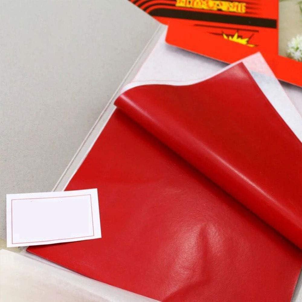 100 Blatt rotes Kohle-Transferpapier zum Kopieren Premium Qualit/ät Kohlepapier