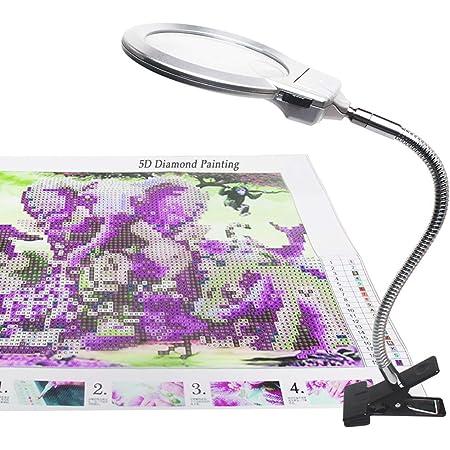 L/ámpara de pintura de diamante colgante de luz LED con pintura de diamante DIY para decoraci/ón del hogar o regalos para pintura de ni/ños