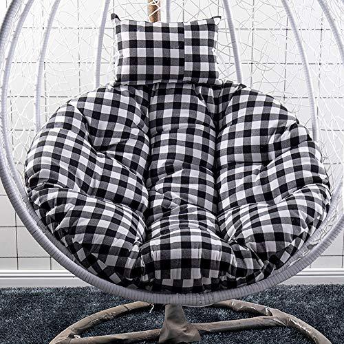 Redondo Nido De Huevo Cojines para Silla,Papasan Silla Cojín,Basket Cushion Wicker Rattan Swing Pads,Not Slip Almohadilla De La Silla De Rock Lavable I Diameter120cm(47inch)