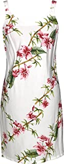RJC Women's Scenic Bamboo Short Hawaiian Bias Cut Slip Dress