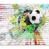 murando Fotomurales Fútbol 300x210 cm XXL Papel pintado tejido no tejido...
