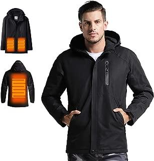 Venustas Men's Heated Jacket with Hood Waterproof Wind Resistant(ADD Power Bank to CART)