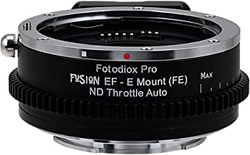 Vizelex ND Throttle Fusion Smart AF Lens Adapter - Canon EOS - EF (NOT EF-S) D/SLR Lens to Sony Alpha E-Mount Mirrorless Camera Body with Full Automated Functions and Built-In Variable ND Filter