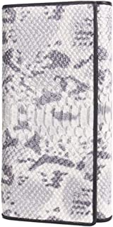Female Wallet Leather Iron Hinge Bag Fashion Clutch Bag JJXSHLFLL (Color : Gray, Size : S)