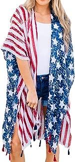 Women's Summer Blouse Loose Kimono Floral Print Cardigan Chiffon Beachwear Dress