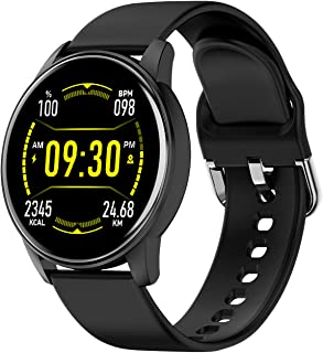 LIGE Smartwatch, Relojes Inteligentes Monitor de Frecuencia Cardíaca IP67 Impermeable 1.3 Pulgadas Táctil Completa Rastrea...
