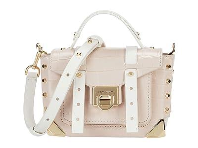 MICHAEL Michael Kors Manhattan Extra Small Top-Handle Crossbody (Soft Pink Multi) Handbags