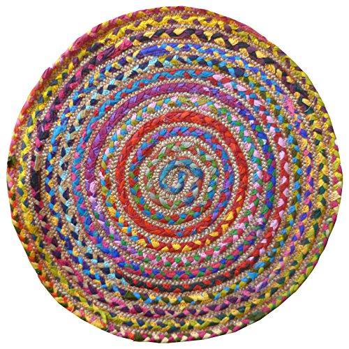 Alfombra redonda multicolor