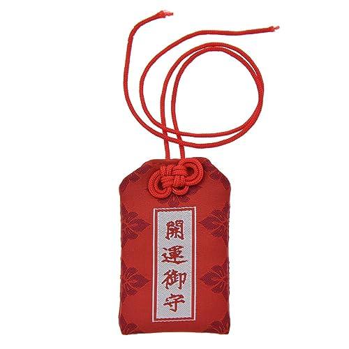 YNuth Amulette Japonaise Porte-bonheur Omamori Accessoire (rouge chance)