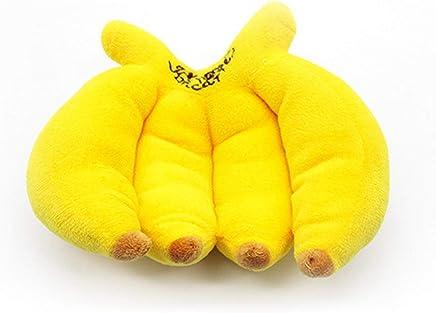 fITtprintse Cute Fruit Banana Forma Pet Toys Puppy Dog Toy Peluche Sound Squeaky Toy per Animali Domestici Cani Animal Chew Toys Miglior Regalo - Trova i prezzi più bassi