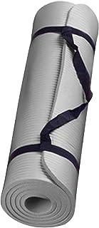 60x25x1,5cm yogamatta halkskyddad matta miljömässig gymnastikmatta viktminskning grå