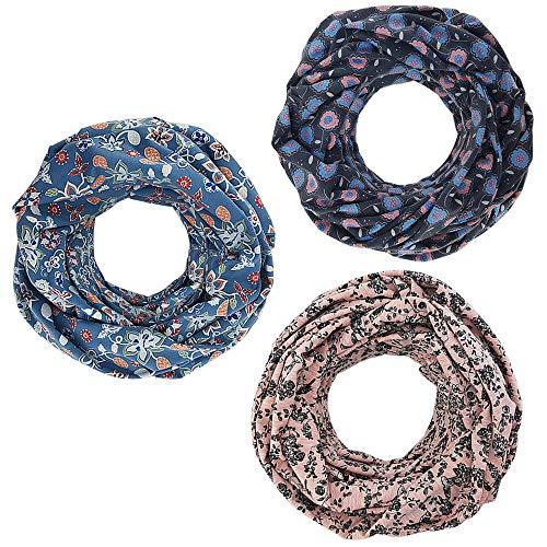 Stillschal Stillloop Schal 2in1 - diskret stillen - Wendeschal Halstuch Stilltuch Still Loop Blume Baumwolle ❤ SmukkeDesign NEU (Blume Blau)