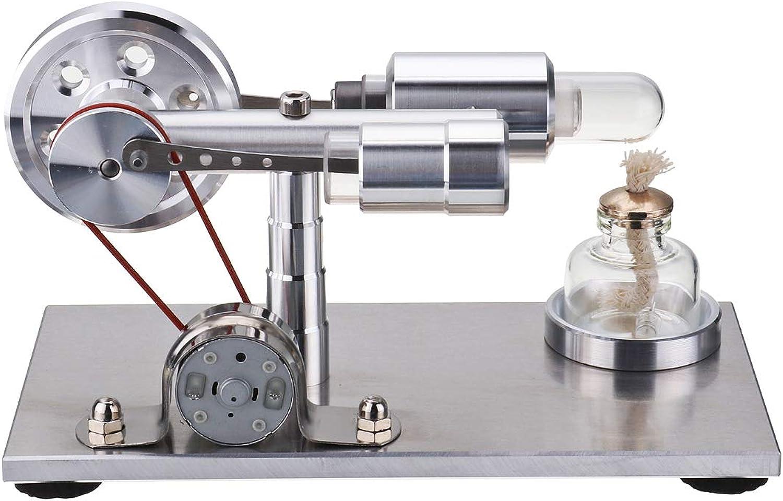 LaDicha STEM Hot Air Stirling Engine Model Generator STEAM DIY Physics Science Experiment Kit