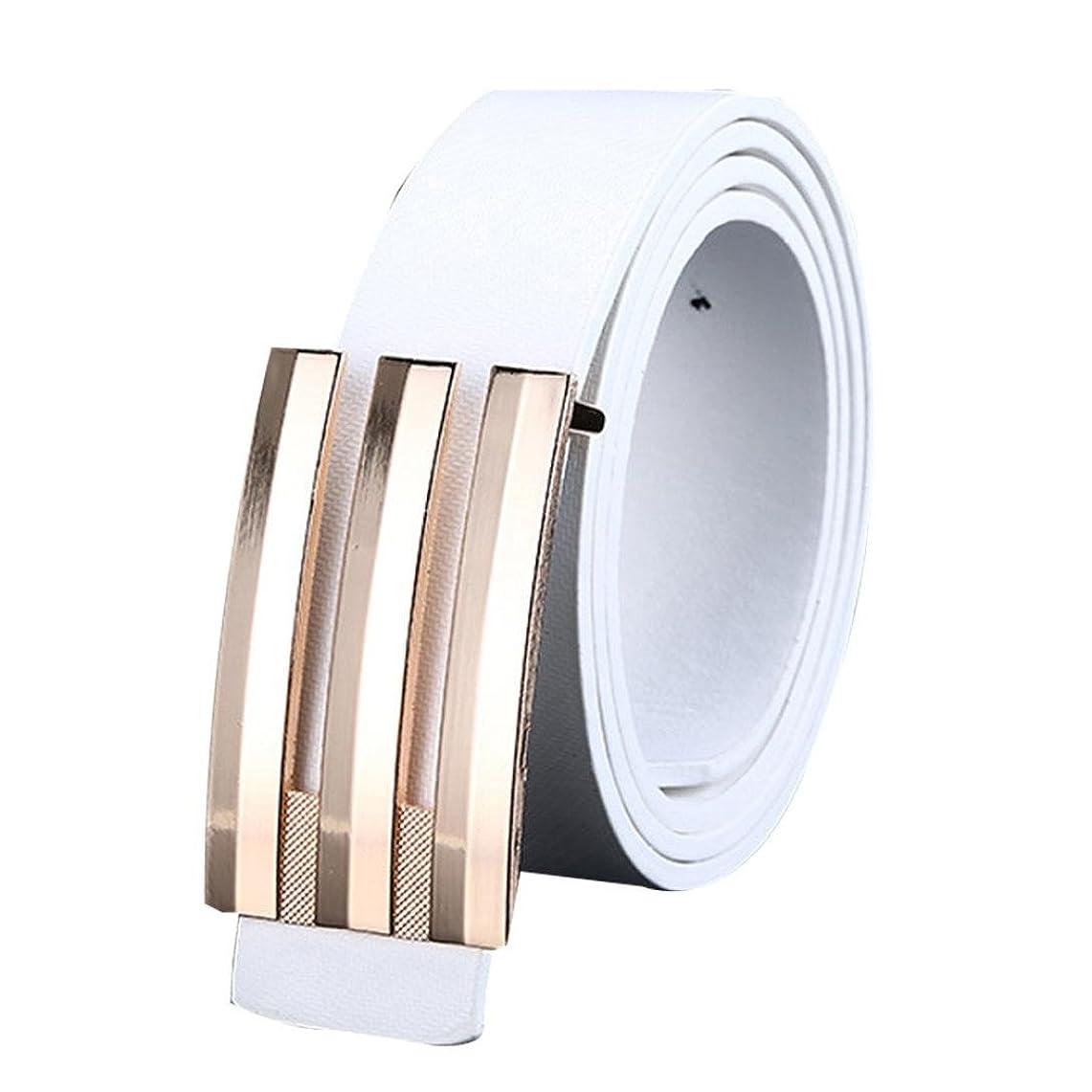 Mhomzawa ベルト メンズ ビジネス ベルト レザー 平滑バックル サイズ調整可能 通勤 ブランド プレゼント男性用 紳士