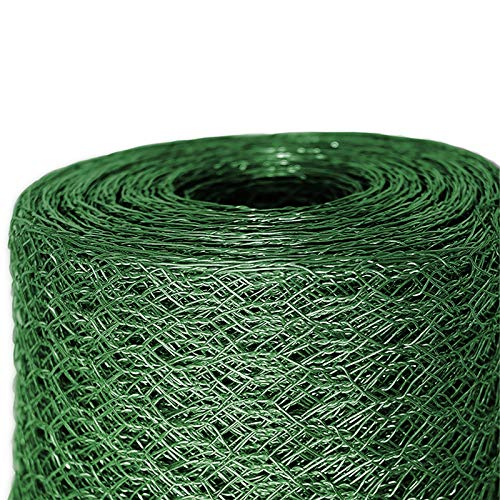 casa pura Grillage pour Jardin clôture Vert | Tailles au Choix | diamètre de Maille 25mm | résistant aux intempéries | Bricolage, 50cmx10m