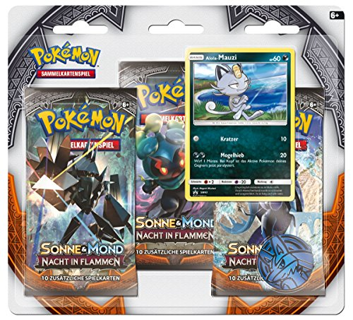 Pokemon 25956 Pokémon Company International 25956-PKM SM03 3-Pack Blister DE