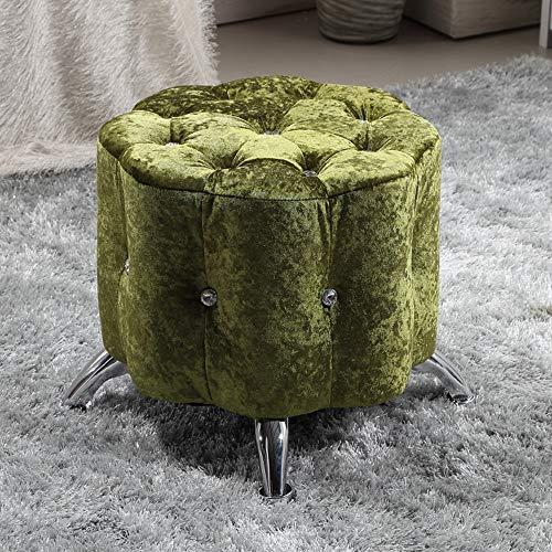 Brisk- opslag, voetenbank voetensteun stoel voor bank en salontafel stof cover poef kruk met houten benen