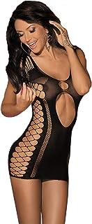 LVYI Women Mini Dresses Sexy Seamless Cut Out Bodysuit