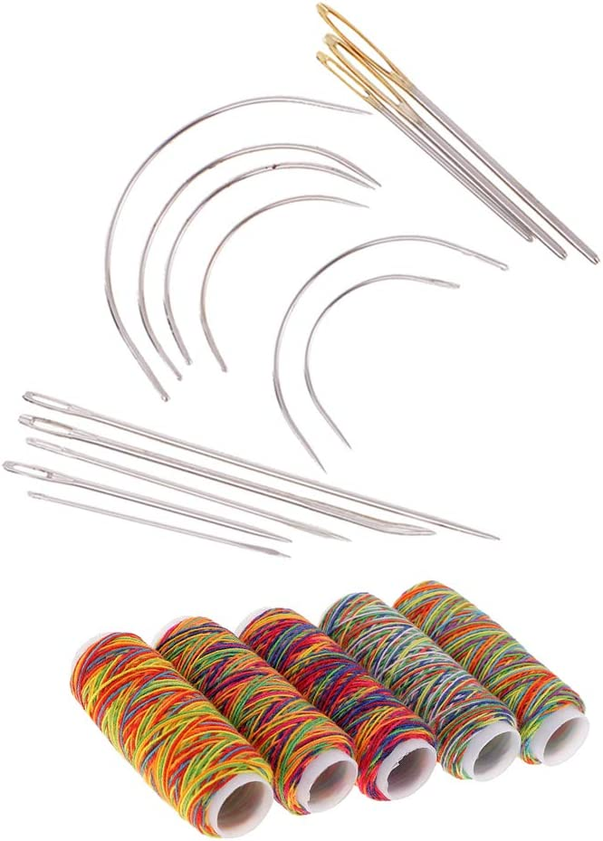 DYNWAVE 19pcs Large-scale sale Set Curved Needles Gifts for Threads Sewing Hand Upholst