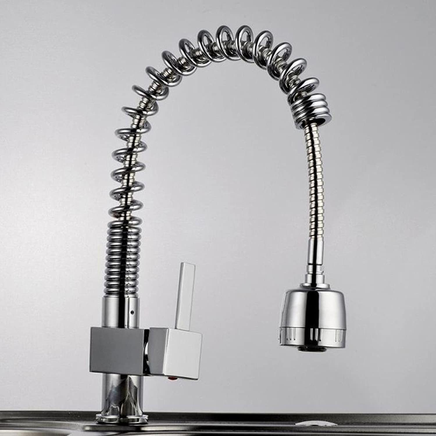 BiuTeFang Pull the kitchen faucet mixing water single spring pull the redating sink faucet