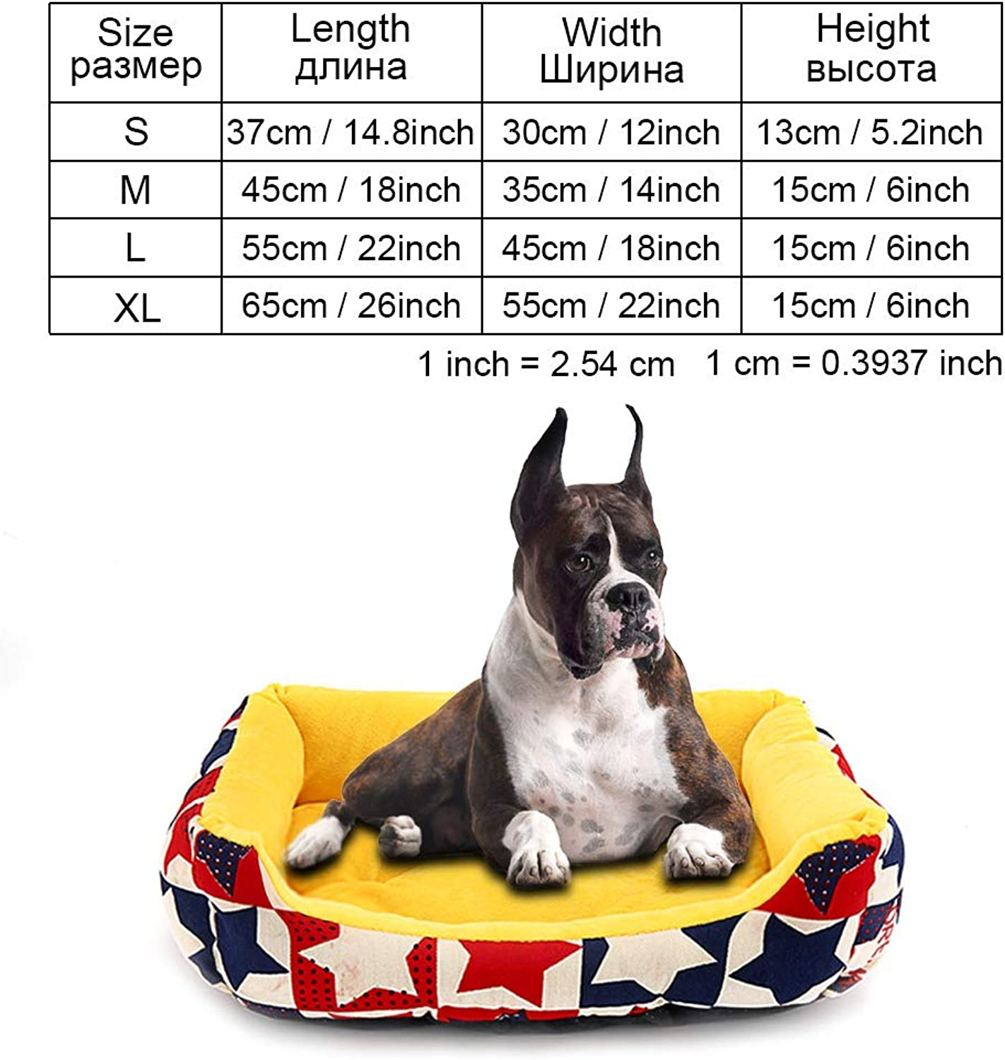 Cookisn Dog Bed Bench for Dogs Pet Products Puppy Bed House for Cat Dog Beds Mat Sofa Lounger for Small Medium Large Dogs Cat Pet Kennel yellowCOO040 XL 65x55cm