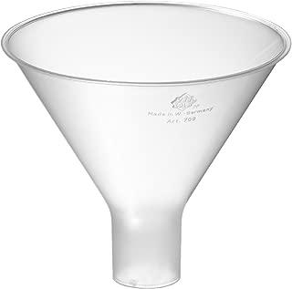 StonyLab Embudo de filtraci/ón Buchner de vidrio de borosilicato de 100 ml con frita mediana profundidad de 60 mm con junta interna c/ónica est/ándar 24//40 di/ámetro de disco de 65 mm