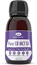 Premium Pure C8 MCT Oil Boosts Ketones 3X More Than Other MCTs Highest Purity C8 MCT Available 99 8 Paleo Vegan Friendly Gluten Dairy Free BPA-Free Plastic 100ml Bottle KetosourceA Estimated Price : £ 6,05
