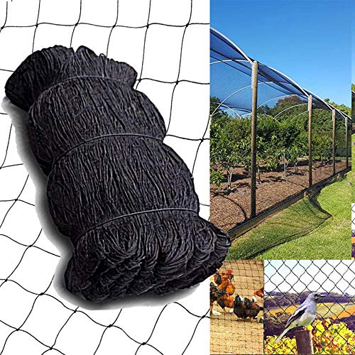 COMPATH Bird Netting 15 Ft x 29 Ft, 1 Inch Mesh, Nylon Garden Plant Fruits Fencing Mesh Net for Bird Poultry Aviary Game Pens