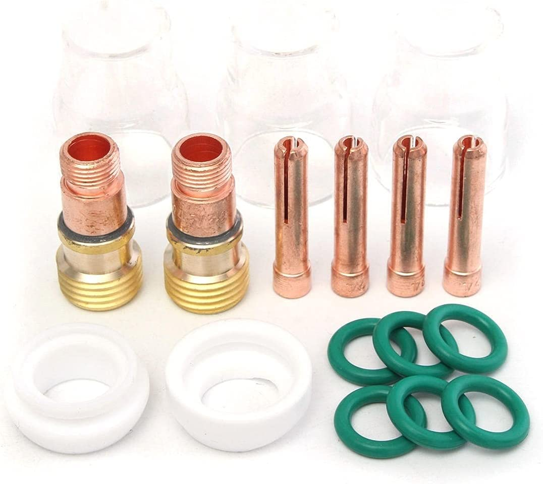 Free shipping on Bargain posting reviews 17pcs TIG Welding Accessories Copper Glass for Cover Mouth WP-17