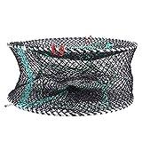Weikeya Red de Pesca, Conveniente Pesca de Aterrizaje Neta Bolsa de Cebo Nylon Hecho para Langosta camarón de camarón de Malla de Malla Accesorios (Negro)