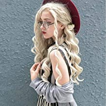 Imstyle Blonde Wigs For Women Ash Blonde Lace Front Wigs Synthetic Hair Long Curly Wave Costume Wigs Heat Resistant Hair Khaleesi Wig Elf wigs24 Inches