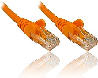 PremiumCord Netzwerkkabel, Ethernet, LAN & Patch Kabel Cat6, UTP, Schnell flexibel & Robust RJ45 Kabel 1Gbit/S, AWG 26/7, Kupferkabel 100% Cu, Orange, 10m