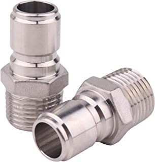 DERNORD Stainless Steel Male Quick Disconnect MPT 1/2