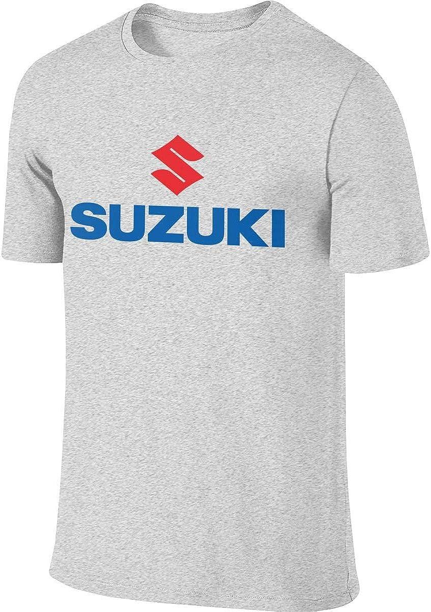 LAURDE New Designed T Shirt Suzuki Motorcycles Logo Fashion Funny Tshirts O-Neck for Man Black M