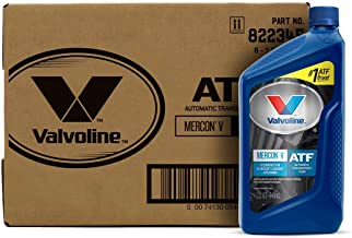 Best Valvoline Mercon V (ATF) Conventional Automatic Transmission Fluid 1 QT, Case of 6 Reviews