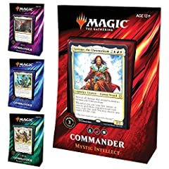CARVE YOUR PATH TO VICTORY. Choose from 3 fierce legendary creatures to lead each deck or help build new ones—all printed here for the first time. JOIN THE FRAY. Commander is a Magic: The Gathering (MTG) multiplayer format where alliances are formed,...