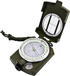 Multifunctional Waterproof Compass, MAXIN Military Metal Army Sighting Compass with Inclinometer for Camping, Hiking and O...