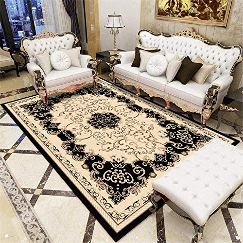 Durable Sitting Roomes Rug Brown Carpet Brown Big Feathers Modern Soft Living Room Carpet Multi-Size Beautiful Comfortable Carpet 120X160CM Extra Large Rug 3ft 11 2 X5ft 3