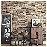 Blooming Wall Faux Brick Stone Textured Wallpaper for Livingroom...