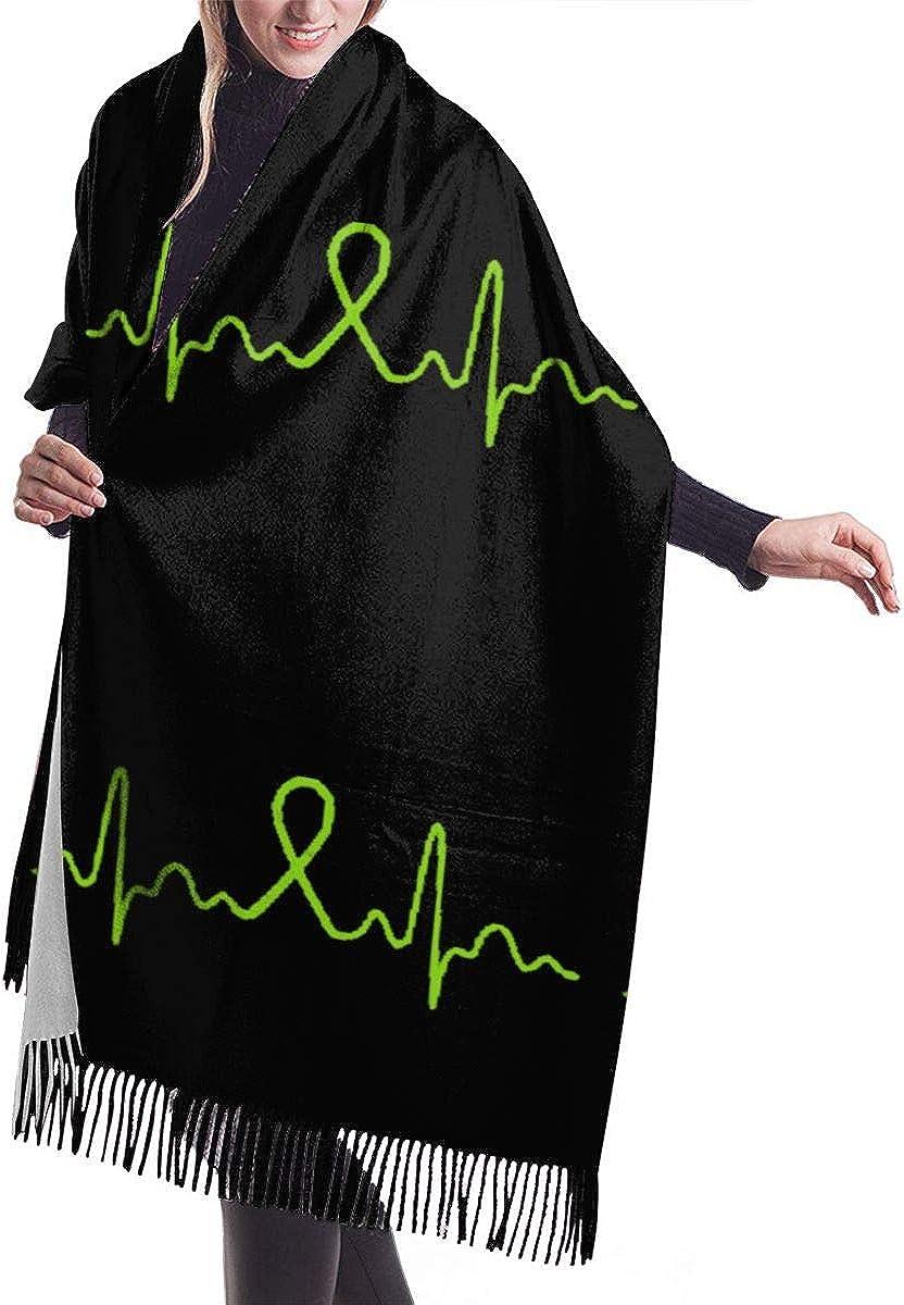 Heartbeat Lymphoma Cancer Winter Scarf Cashmere Scarves Stylish Shawl Wraps Blanket