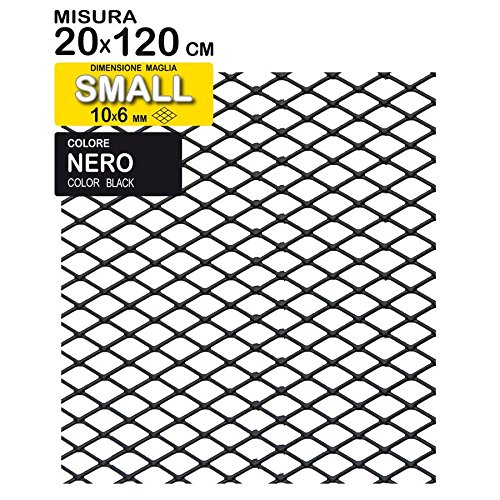 TUNING GURU 1108388 Grille en Aluminium, Noir, 120 x 20 cm