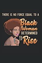 Black Woman: Black Girl Magic African Queen Determined To Rise Notebook 6x9 Inches 120 dotted pages for notes, drawings, f...