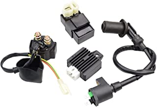 GOOFIT Ignition Coil CDI Solenoid Relay Voltage Regulator for GY6 50cc 125cc 150cc ATV Scooter Moped