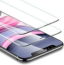 ESR Verre Trempé [SANS BORD NOIR] pour iPhone 11 / iPhone XR (2 Pièces), [Cadre de Repère Offert], Film Protection Écran Dureté 3X Stronger pour iPhone 6,1 Pouce (2019)