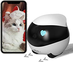 Enabot Ebo SEMoving Home SecurityCamera, Interactive Pet Robot 1080P, with 2 Way Audio, Night Vision, Auto-Cruise, Self-Charging, Motion Detection IP Cam