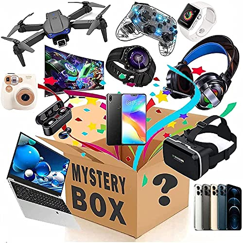 nakw88 Scatola cieca Mystery Box Electronics,Mystery Boxes Random,Birthday Surprise Box,Lucky Box for Adults Surprise Gift,Such As Drones,Smart Watches,Gamepads And More,Best Gift for Holidays